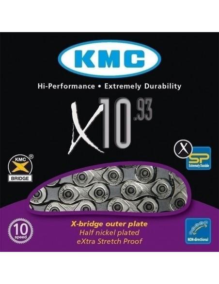 Lant KMC X10-93 1/2X11/128 10 Viteze 114 Zale + Za Rapida