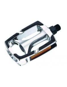 Pedale Syncromate Urban 1 108x70mm Al + PP + TPR Negru-Argintiu